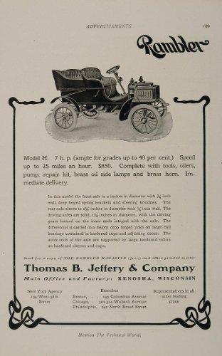 Review 1905 Ad Rambler Auto
