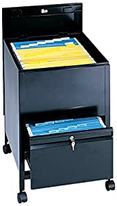 Safco Products 5365BL Locking Mobile Tub File with Drawer, Legal Size, Black