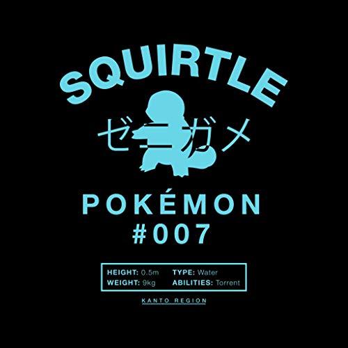 Squirtle Seven Men's Sweatshirt Hooded Black Number Pokemon U47xRfq7