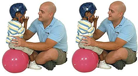 Gymnic Physio Balance Therapy Ball, 12 Inch, Pink, Holds 300 Pounds (Twо Расk) by Gymnic