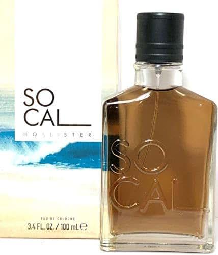 Hollister So Cal Eau De Cologne Spray For Men 3.4 Oz / 100 ml Brand New 2018 Design