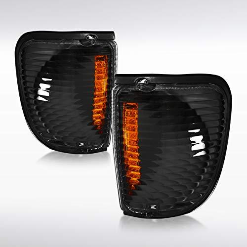 (Autozensation For Ford Econoline Van E-150/250/350/450/550 Black Corner Signal Lights)