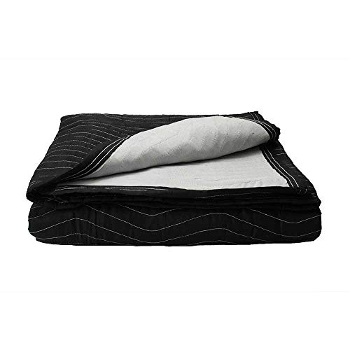 Supreme Mover Moving Blanket | 72 inch x 80 inch Heavy Duty Black and White Moving Pad| 7.5...