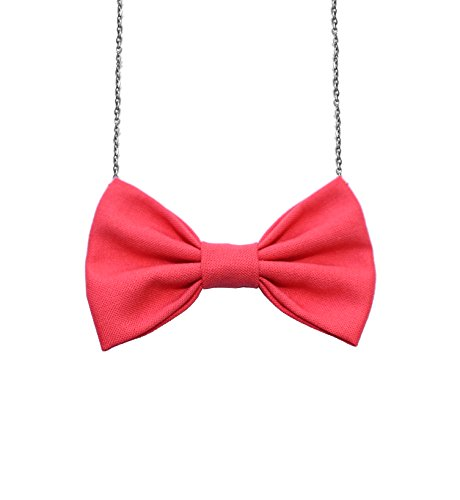Bow Tie Necklace Solid Colors Adjustable Chain 16-18