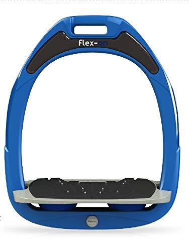 【 限定】フレクソン(Flex-On) 鐙 グリーン COMPOSITE RANGE Mixed ultra-grip フレームカラー: ブルー フットベッドカラー: グレー エラストマー: ネイビー 13119   B07KMPY39Q