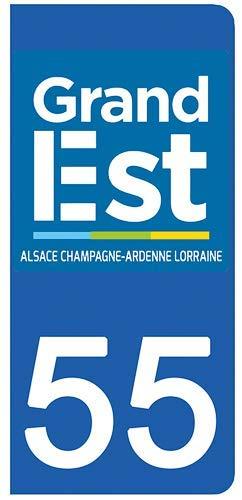 Stickers recouvert dun pelliculage sp/écifique pour Resister aux intemp/éries 55 Meuse- Stickers Garanti 1 an aux Rayons UV. DECO-IDEES 2 Stickers pour Plaque dimmatriculation