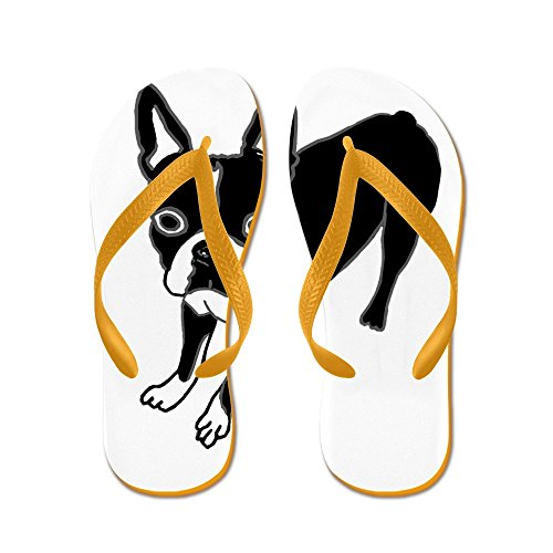 Cafepress Boston Terrier - Tongs, Sandales String Sexy, Sandales De Plage Orange