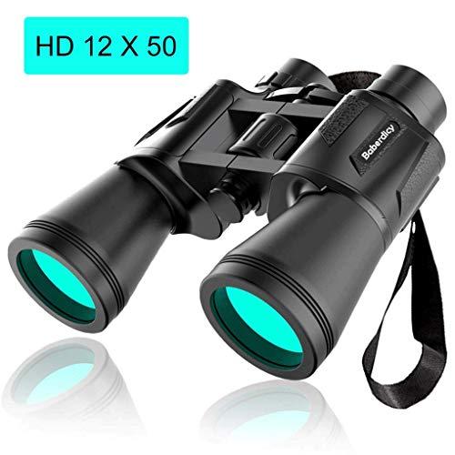 Binoculars Adults Kids, Baberdicy 12x50 Compact Binoculars Hunting, Lightweight Waterproof HD Binoculars Birds Watching, Travelling, Hiking, Outdoor Sports Games Concerts (Black)