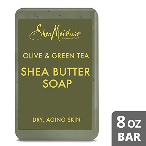 Shea Moisture Olive & Green Tea Shea Butter Soap, 8 Oz (Pack of 4) (Best Shea Butter Soap)