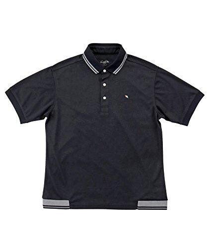 アーノルドパーマー メンズ ゴルフ ポロシャツ 半袖 ヘムリブ半袖ポロ AP220101H01 BK/GY L