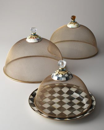 MacKenzie-Childs Courtly Check Mesh Dome - Small 10.5