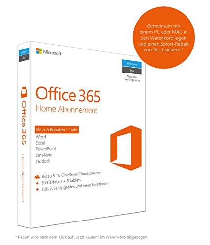 Microsoft Office 365 Home 5PCs/MACs - 1 Jahresabonnement - multilingual (Product Key Card ohne Datenträger)