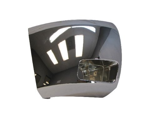 2007-2010 08 09 SILVERADO 2500 3500 FRONT BUMPER CAP/END CHROME W/FOG HOLE RH