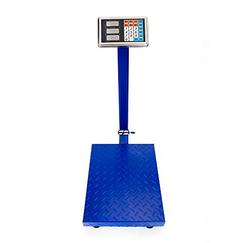 660lbs Smart Weigh Digital Shipping and Postal Scale,Floor Platform Folding Scales,Stainless Steel High-Definition LCD Display,Perfect for Luggage Shipping Mailing Package Price (Blue)