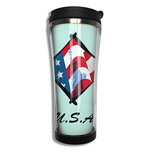 Us-flag-Statue Of Liberty-clipart Designs Travel Mug For Custom Unique Gift ()