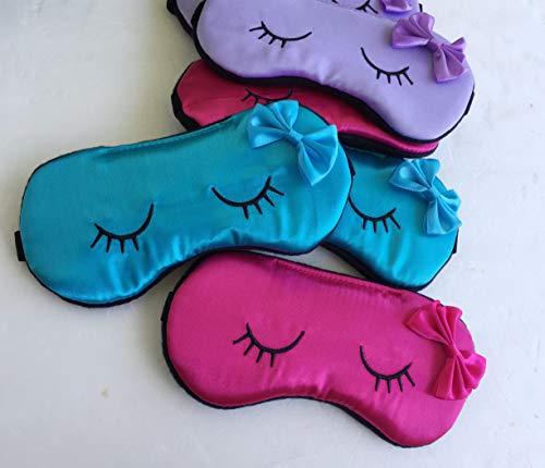 Kawaii Kids Eyelashes Sleep Mask Slumber Party Favors Kids Eye Mask Pajama Party Mask.