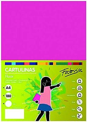 Pack 100 Cartulinas Color Rosa Fluor Tamaño A4 180g: Amazon.es: Oficina y papelería