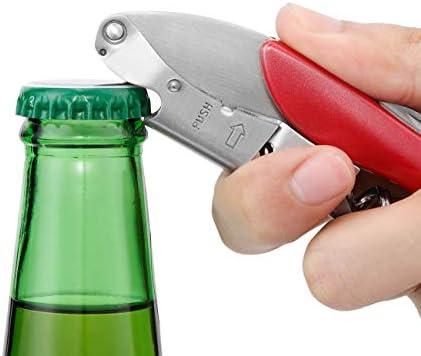 Le Creuset Sacacorchos sommelier 2 tiempos, Extrae el tapón de la botella de vino, Verde, Policarbonato, WT130