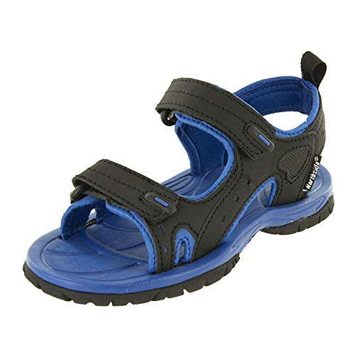 Northside Riverside II Fisherman Sandal , Black/Blue, 2 M US Little Kid