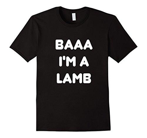 Mens Lamb Cute Halloween Couple Costume T-shirt Large Black - Cute Halloween Costumes For Girl Couples