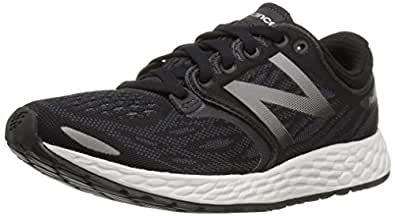 New Balance Women's ZANTEV3 Running Shoe, Black/Thunder, 5 B US