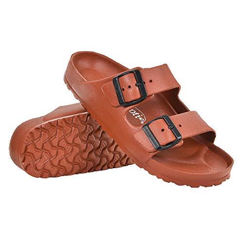 (AEROTHOTIC - Water Friendly Comfortable EVA One-Piece Technology Summer Flip Flops Sandals for Women (09 Aerothotic = (US 08 / EU 39), IRIS Burnt Orange))