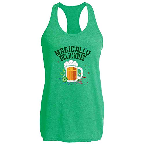 Magically Delicious Beer Funny St. Patrick's Day Heather Kelly L Womens Tank -