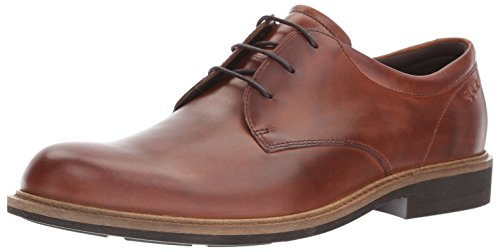 ECCO Men's Findlay Plain Toe Tie Oxford, Cognac, 40 EU / 6-6.5 US by ECCO