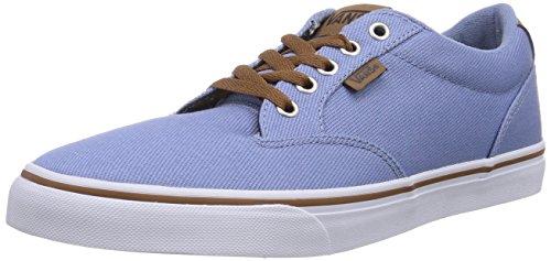 Vans Winston, Men's Low-Top Trainers Blue (Twill Fdeddnm)