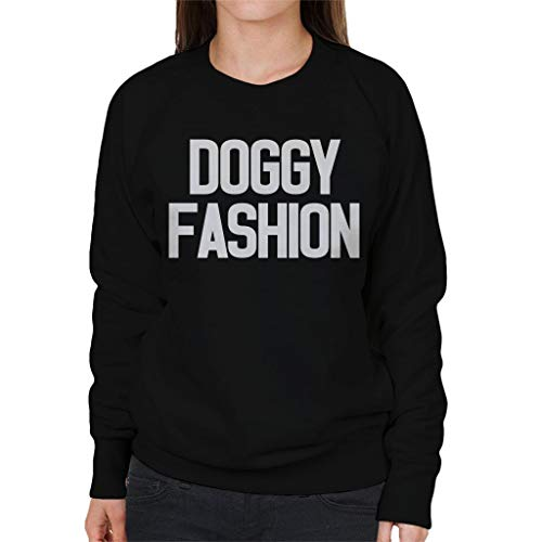 Fashion Love Island Doggy Women's Black Sweatshirt wqWxBp8H1