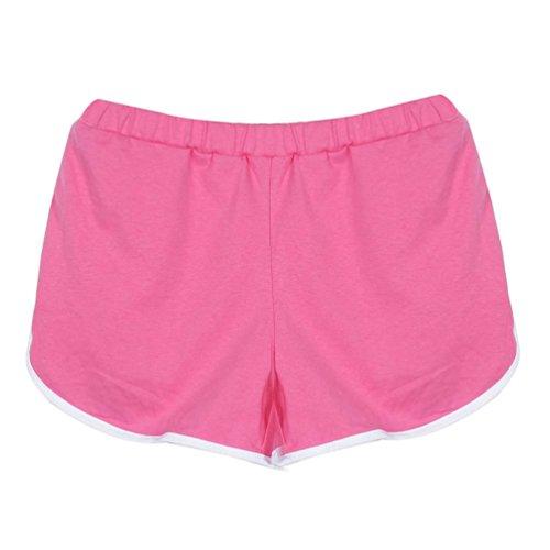 Yoga Blu Running Rosa S XL Donna Shorts Palestra Pantaloncini 1 Sportivi Sportivi in Calzoncini 2 Pantaloncini Fitness per qPf6AFwf