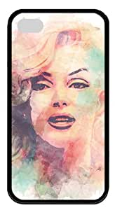 Fascinating Marilyn Monroe TPU Material Popular Black Case For Iphone 4/4S by Topmousepad 140402107