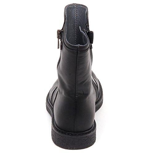 Girl Momino Boot Stivale Shoe Nero Kid Scarpa E4080 Nero Bimba Biker RAT6R
