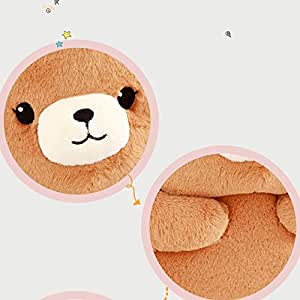 Amazon.com: eSunny - Cojín lumbar de felpa con diseño de oso ...