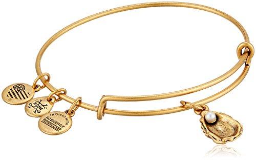 Alex and Ani Oyster II Rafaelian Gold Bangle Bracelet ()