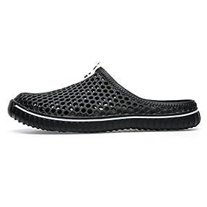 Unisex Garden Clogs Clapzovr Soft Beach Water Sandals for Women and Men Black- 9 B(M) US WOMEN / 8 D(M) US MEN