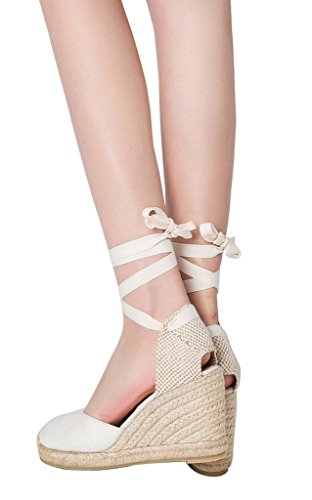 U Lite 3 Quot Cap Toe Platform Wedges Sandals For Women