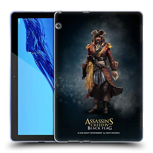 Official Assassin's Creed Bartholomew Roberts Black Flag Characters Soft Gel Case for Huawei MediaPad T5