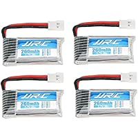 UUMART JJRC H8mini RC Quadcopter Spare Parts 4 Pcs 260mAh 30C Lipo Battery