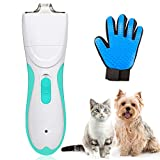 JIMITE Pet Grooming Clipper Washable Pet Clippers USB Rechargeable Low Noise Electric Pet Trimmer with Detachable Micro-serrated Ceramic Blade For Dogs and Cats, Eyes, Face, Ears, Paw, Around Rump