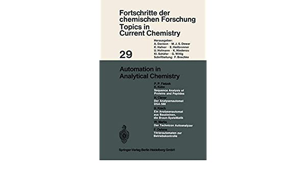 Automation in Analytical Chemistry (Topics in Current