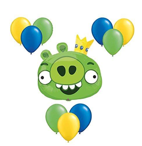 Angry Birds Green Balloon Bouquet 10