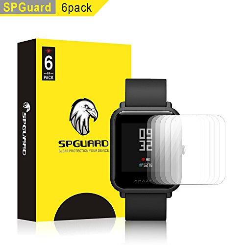 SPGuard Compatible Amazfit Bip LiQuidSkin Screen Protector [6-Pack], Amazfit Bip Smartwatch Screen Protectors Screen HD Clear Film Anti-Bubble Screen Films