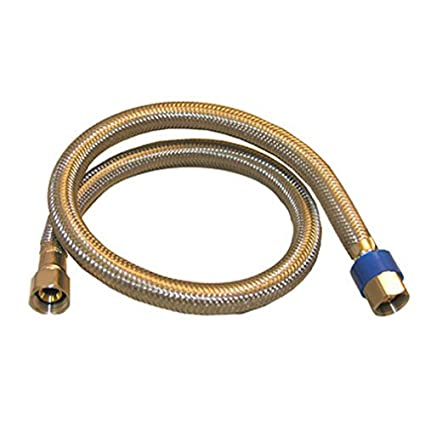 LASCO 10-0960 24-Inch Water Supply Line, Braided Stainless Steel, 3 ...