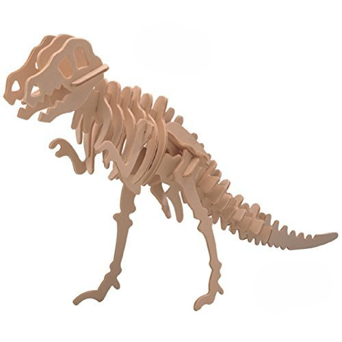 BITOO Smilelove 3D Wooden Puzzle Tyrannosaurus Animal Jigsaw Puzzle T-Rex Dinosaur Model Toy -