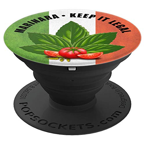 Marinara Keep It Legal Basil and Tomatoes - PopSockets Grip and Stand for Phones and Tablets