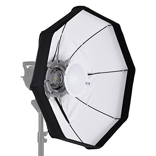 Andoer 8-Pole 60cm Beauty Dish Softbox Octagon with Bowens Mount White Foldable for Studio Strobe Flash Light by Andoer