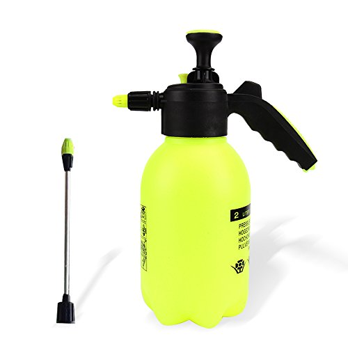 SENLIXIN Water Sprayer Mister 2L/0.5 Gallon | Multi-Purpose Hand Pump Sprayer | 2 Liter Garden Spray Bottle Hand Pressed Watering Pot for Household Plant and Wash Car - Yellow Low Pressure Misting Ring