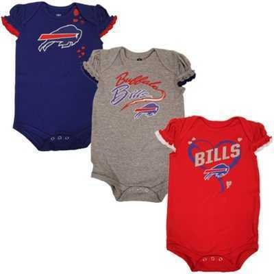 7a560d05 Amazon.com : Buffalo Bills GIRLS 3pc Creeper Set Team Colors Infant ...