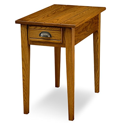 - Leick Bin Pull Chair Side End Table, Candle Glow